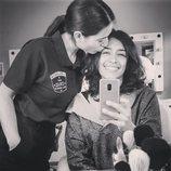 Adriana Paz y Zaïra Pérez en el rodaje de la cuarta temporada de 'Vis a vis'