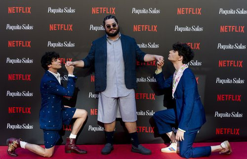 Brays Efe y Los Javis en la premiere de la segunda temporada de 'Paquita Salas'
