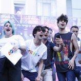 Los pregoneros del Orgullo LGBT de Madrid 2018 en la plaza Pedro Zerolo