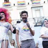 Agoney y Marina en el pregón del Orgullo LGBT de Madrid 2018