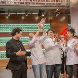 Marta, ganadora de 'MasterChef 6', celebra su victoria con los jueces y Mauro Colagreco