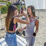 Aitana pone una pegatina en el casting de 'OT 2018' en Madrid
