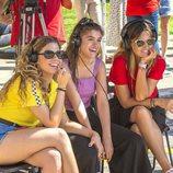 Miriam, Amaia y Noemí Galera, sonrientes en el casting de 'OT 2018' en Madrid