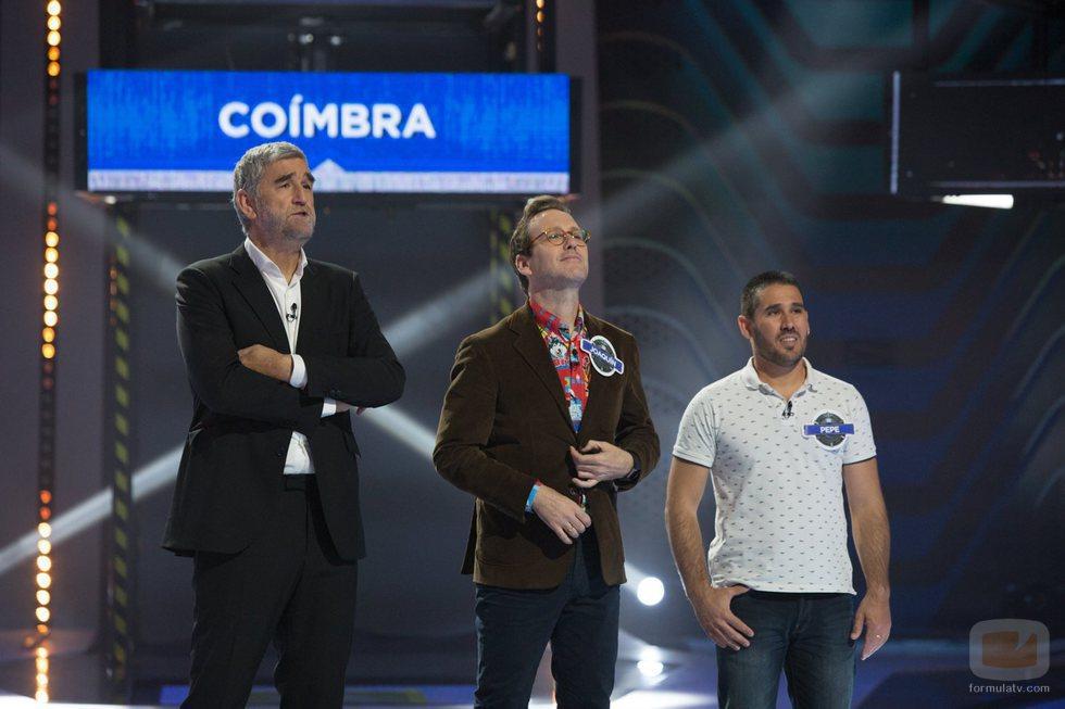Iturriaga junto a Joaquín Reyes, capitán del equipo azul, con el único miembro en juego de 'Crush'