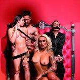 Isabel Castell desnuda junto a Torito y una pareja en Primera Línea