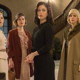 Blanca Suárez junto a Ana Fernández, Nadia de Santiago y Maggie Civantos en la tercera temporada de 'Las chicas del cable'