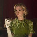 Maggie Civantos en el rodaje de la tercera temporada de 'Las chicas del cable'