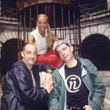 Paula Vázquez, Félix Álvarez y Óscar Ladoire en 'Fort Boyard'