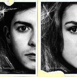 """Mitad del rostro de Alfred y mitad del rostro de Amaia en """"El alma de Almaia"""""""