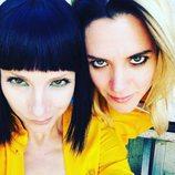 Maggie Civantos y Najwa Nimri en el rodaje de la cuarta temporada de 'Vis a vis'