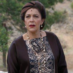 María Bouzas (Francisca Montenegro) en el rodaje de 'El Secreto de Puente Viejo'