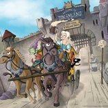 El trío protagonista de '(Des)encanto' escapa de una fortaleza en un coche de caballos