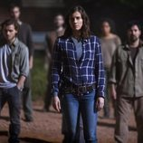 Maggie lidera a un grupo de supervivientes en 'The Walking Dead'