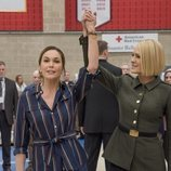 Robin Wright con Diane Lane en un acto durante la sexta temporada de 'House of Cards'
