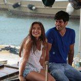 Burak Ozcivit y Neslihan Aragül en una escena de la telenovela 'Amor eterno'