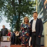Toñi Prieto y Tinet Rubira, en la alfombra naranja del FesTVal 2018