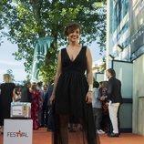 Cristina Villanueva, presentadora de 'laSexta Noticias', en la alfombra naranja del FesTVal 2018