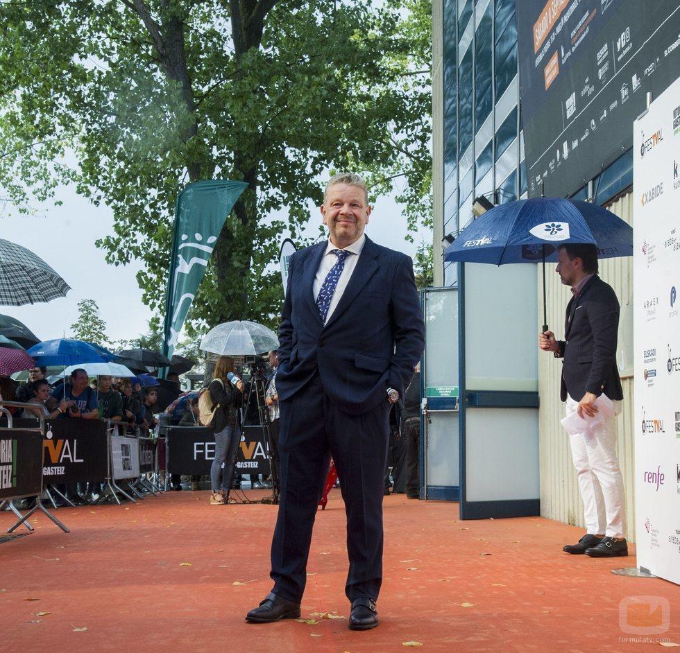 Alberto Chicote, de 'Pesadilla en la cocina' y 'Top Chef', en la alfombra naranja del FesTVal 2018