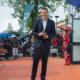 Manu Sánchez, presentador de 'Antena 3 Deportes', en la alfombra naranja del FesTVal 2018