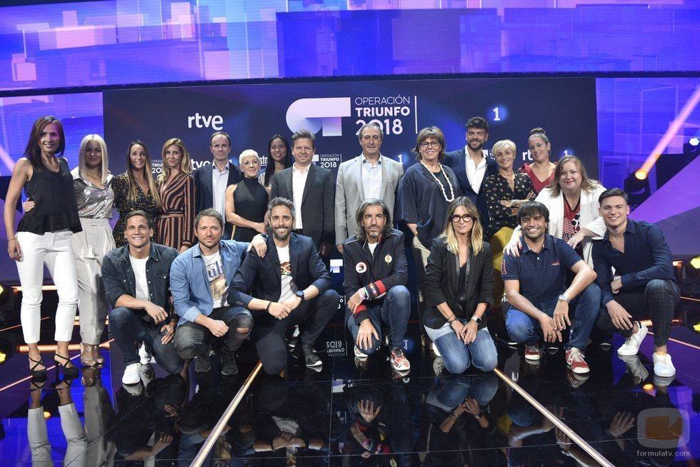Toda la familia de 'OT 2018' posan juntos en la rueda de prensa