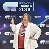 Itziar Castro, profesora de 'OT 2018', en la rueda de prensa