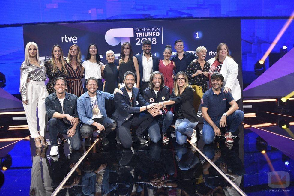 El jurado y los profesores de 'OT 2018' juntos en la rueda de prensa