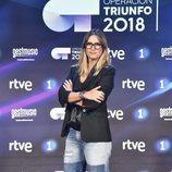 Noemí Galera, directora de la Academia de 'OT 2018', posa en la rueda de prensa