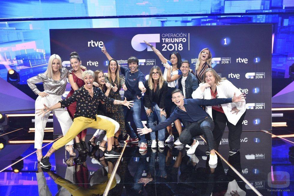Todos los profesores de 'OT 2018' reunidos en una imagen