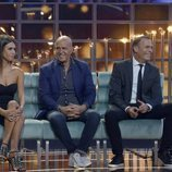 Sofía Suescun, Kiko Matamoros y Carlos Lozano en el plató de 'GH VIP 6'