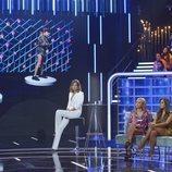 Sandra Barneda durante el primer 'GH VIP: El debate'