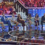 Ares Teixidó, Uri Sabat, Sofía Suescun, Nagore Robles, Laura Matamoros y Carlos Lozano, colaboradores de 'GH VIP: El debate'