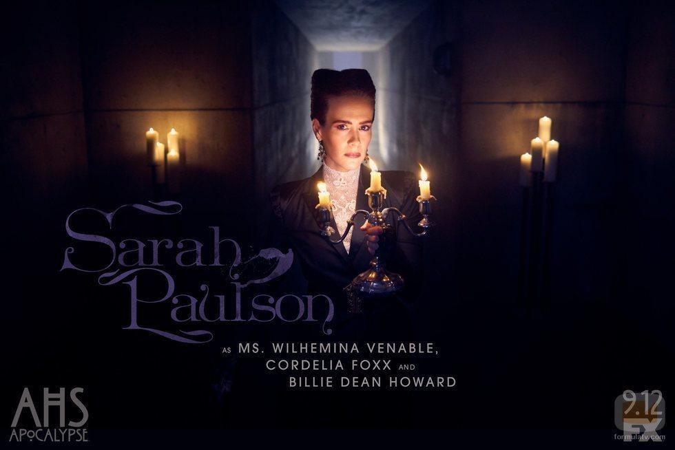 Sarah Paulson como Wilhemina Venable en 'American Horror Story: Apocalypse'