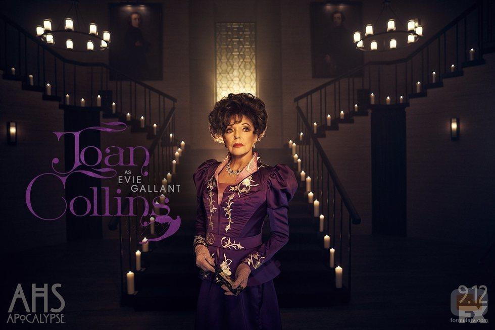 Joan Collins es Evie Gallant en 'American Horror Story: Apocalypse'