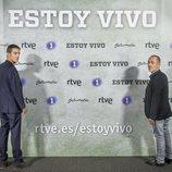 Alejo Sauras y Javier Gutiérrez en la presentación de 'Estoy vivo'