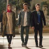 Nadia, Samuel, Christian y Ander en la primera temporada de 'Élite'