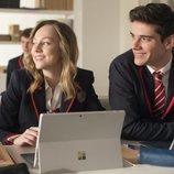 Clara y Polo en clase en la primera temporada de 'Élite'