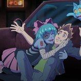 Zombirella abraza a Rubius en 'Virtual Hero'
