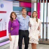 Lourdes Montes, Julián Contreras Jr. y Rosanna Zanetti, colaboradores de 'Corazón'