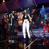 Alfonso y Sabela actuando en la Gala 1 de 'OT 2018'
