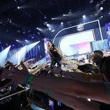 Noelia al cruzar la pasarela como favorita de la Gala 1 de 'OT 2018'