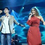 Marilia y Dave cantando en la Gala 1 de 'OT 2018'