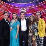Manel Fuentes junto a los miembros del jurado de 'Tu cara me suena'