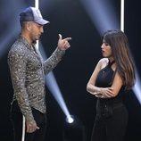 Omar Montes y Chabelita Pantoja hablando en la gala 3 de 'GH VIP 6'