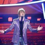 Manu Sánchez imita a Rod Stewart en la gala 1 de 'Tu cara me suena'