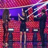 Mimi Doblas con Elena Foureira en la gala 1 de 'Tu cara me suena'