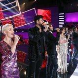 Los concursantes de 'Tu cara me suena' en el opening de la gala 1