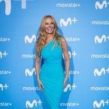 Paula Vázquez, presentadora de 'El Puente' y 'Fama', en el Upfront Movistar+ 2018