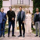 La banda de 'Snatch' reunida durante la temporada 2