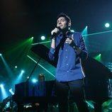 Alfonso cantando en la Gala 2 de 'OT 2018'
