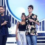 Roberto Leal con los nominados de la Gala 2 de 'OT 2018'